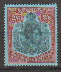Bermuda SG 117c MH assumes perf 13  lowest cat value