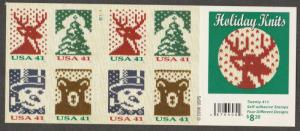 U.S. Scott #4210b Christmas - Holiday Knits Stamp - Mint NH Booklet Pane
