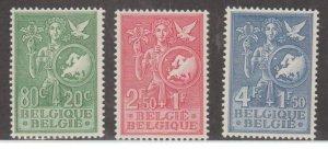 Belgium Scott #B544-B545-B546 Stamps - Mint Set