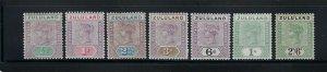 ZULULAND SCOTT #15-21 1894-96 VICTORIA SHORT SET- MINT HINGED
