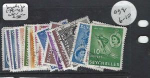 SEYCHELLES  (P3004B) QEII SET  SG 179-188   VFU
