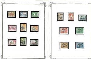 Ghana 1957-1990's Mint (mostly) & CTO in Mounts on Blank Scott Specialty Pages.
