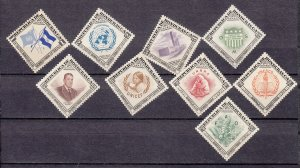 J27754 1953 honduras set mnh #c222-230 signed united nations