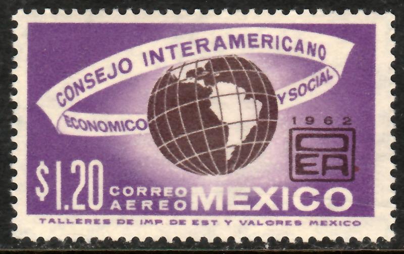 MEXICO C263, Interamerican Economic & Soc Council MINT, NH. VF.