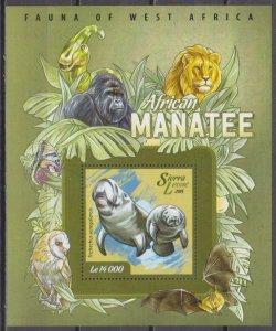 2015 Sierra Leone 6033/B737 African Manatee 6,30 €