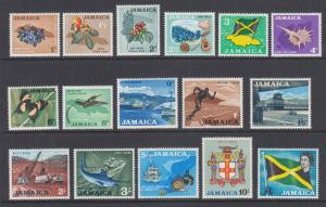 Jamaica Sc 217-232 MLH. 1964 definitives, complete set, VF