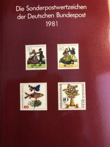 Dt. Bundespost 1981 BRD and Berlin MNH Commemoratives Complete Year in booklet