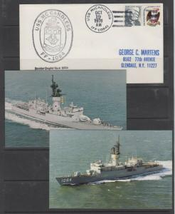 USS McCANDLESS FF-1084 - NAVY SHIP with picture postcard - NICE!!