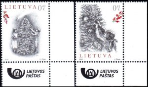 LITHUANIA 2020-16 Christmas and Happy New Year. Religion. Post Logo CORNER, MNH