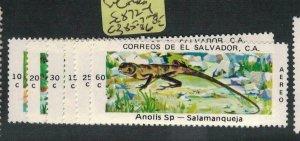 El Salvador SC 872-4, C385-7 MNH (2ecq)