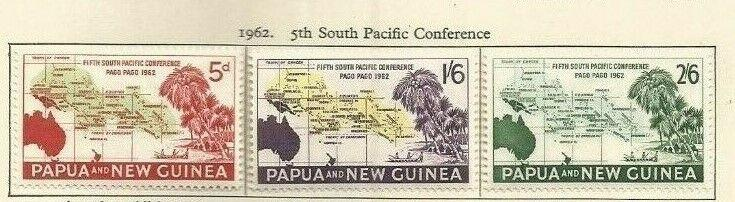 PAPUA NEW GUINEA 1962  SCOTT 167-9 MH