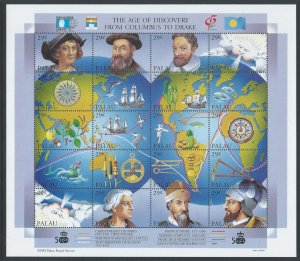 Palau #302 NH The Age of Discovery, Columbus to Drake - S...