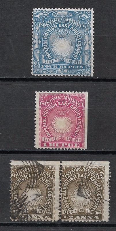 BRITISH EAST AFRICA 1890-5 Assorted Mint & Used.