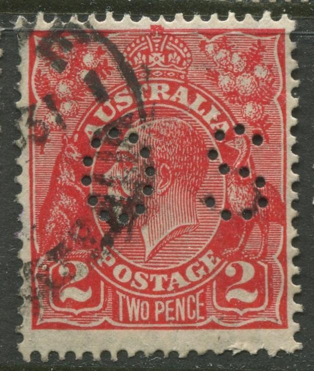 Australia - Scott 71 - KGV Head -1930 - FU - Wmk 203 -  2p Stamp