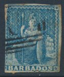 Barbados SG 3 SC# 2a  Used 2+ margins please see scans for details free shipping