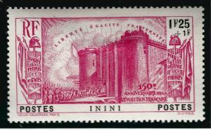 Inini French Revolution Semi-Postal Sc B4 VF Mint.hr...Make me an Offer!