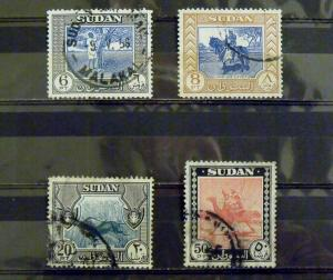 2454   Sudan   Used, VF   # 110, 111, 113, 114   C.V.$ 15.25