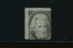 Scott #85B Jackson Z-Grill Unused Stamp  with PF  Cert (Stock 85B-PF2)