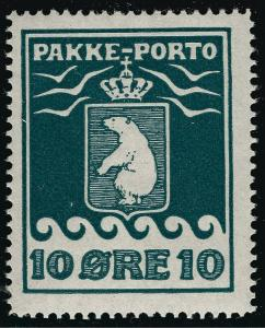 Greenland 10 Ore Pakke - Porto Sc Q4b Perf 11 1/2  F-VF MOG...Hard to Find!