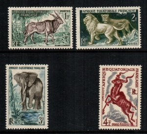 French Equatorial Africa  195 - 198   MNH cat $  3.30