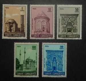 Turkey 1792-96. 1968-69 Historic Buildings, NH