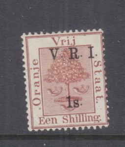 ORANGE FREE STATE, 1900 VRI, raised stops, 1s. Brown, lhm.