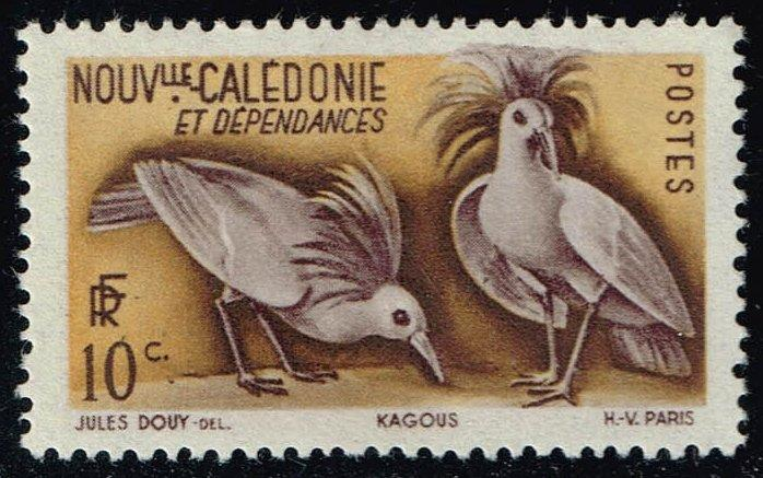 New Caledonia #276 Kagu Birds; Unused (0.45)