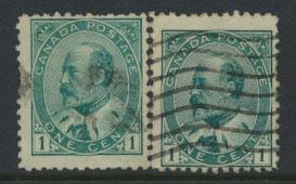 Canada SG 173 / 174 shades?   used  please see scan for further details