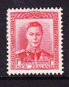 NEW ZEALAND 1938  1d RED  KGVI  MLH  SG 605