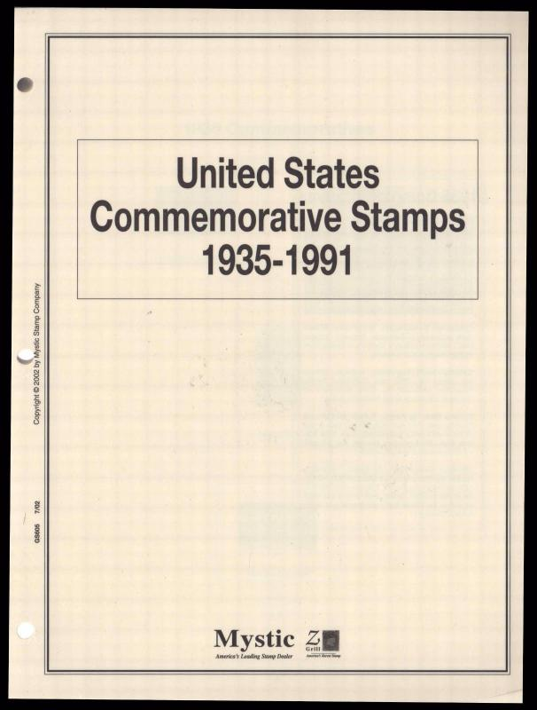 USA Commemorative Stamps Collection Album Pages 1935-1991 New In Shrink Wrap