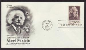 US 1774 Einstein Artcraft U/A FDC