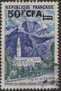 ILE DE LA RÉUNION - 1960 Yv.352A/Mi.411 50fr CFA / 1fr Cilaos Obl. TB