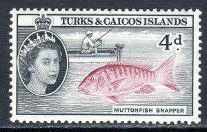 Turks & Caicos  1957   sg 242    4d  -  value   MM