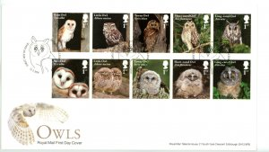 Great Britain 2018 FDC Owls Birds New Issue