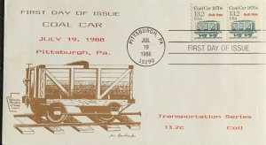 Keystone Federation Stamp Clubs 2259 Railroad Coal Car Transportation Coil Brown