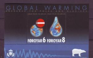 Faroe Islands Sc 509a 2009 Global Warming stamp sheet mint NH