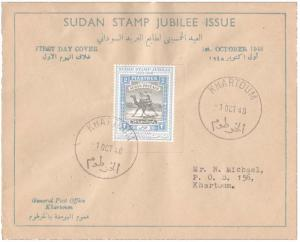 Sudan Scott 95 Typewritten Address.