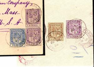 W178a 1924 MAURITIUS *Rose Belle* CDS 40c Rate Registered Combination Cover USA