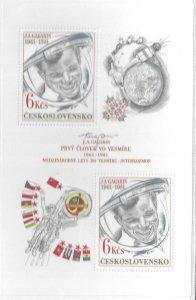 1981  CZECHOSLAVAKIA  -  SG.  MS 2570  -  GAGARIN FIRST FLIGHT   -  MNH