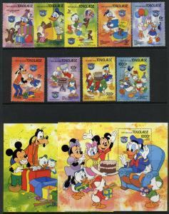 Togo 1230-40 MNH Disney, Donald Duck, Mickey Mouse