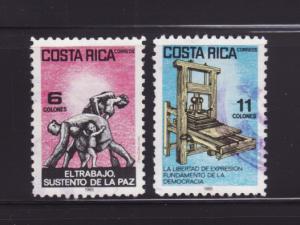 Costa Rica 323-324 U Various (B)