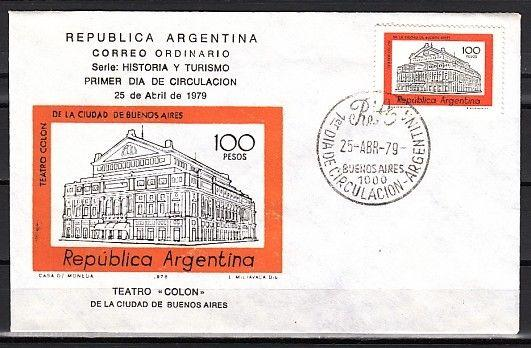 Argentina, Scott cat. 1167. Opera House definitive value. First day cover.