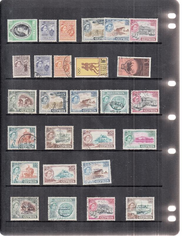 CYPRUS STOCKPAGE ALL QE 2ND VALUES MINT/USED
