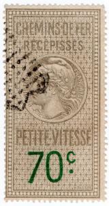 (I.B) France Revenue : Récépissés de Chemins de Fer 70c