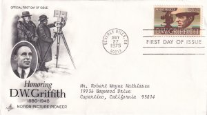 1975, Honoring D. W. Griffith, Art Craft, FDC (E12285)