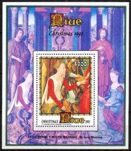 Niue 1992 Christmas Art Paintings S/S MNH