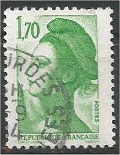 FRANCE, 1983, used 1.70fr, Liberty Scott 1878