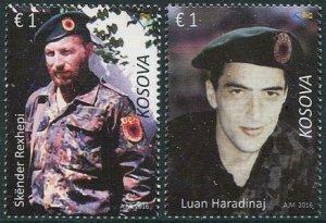 HERRICKSTAMP NEW ISSUES KOSOVO Haradinaj & Rexhepi, Fallen Soldiers