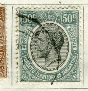 TANGANYIKA; 1927 early GV Head issue fine used 50c. value