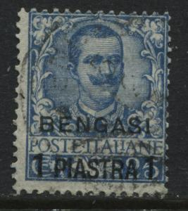 Italy Offices in Africa overprinted Bengasi 1 piastre used  (JD)